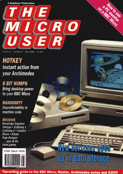The Micro User - one of the magazines Raymond wrote for in 1989
