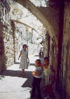 06 Arab kids in Old City street, Jerusalem